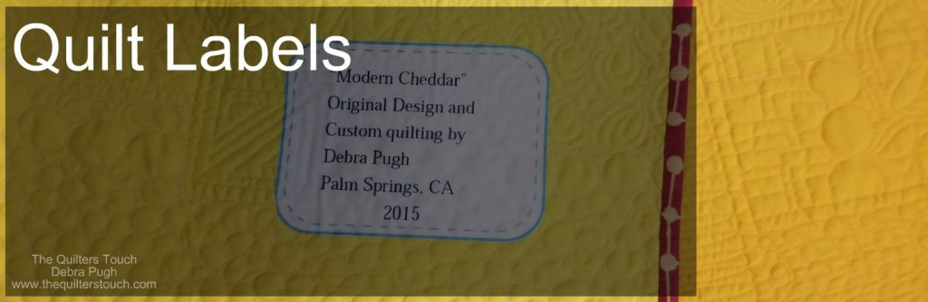 4 great blog posts about quilt labels