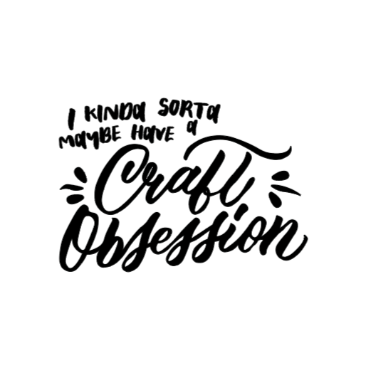 craft obsession white decal