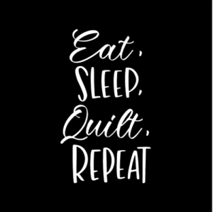 Eat, Sleep, Quilt, Repeat Car Decal
