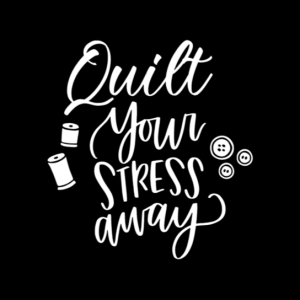 Quilt Your Stress Away Car Decal