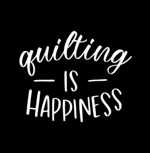 Quilting is happiness Car Decal