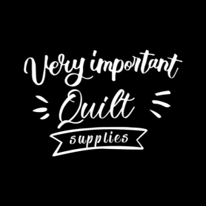 Very Important Quilt Supplies Car Decal