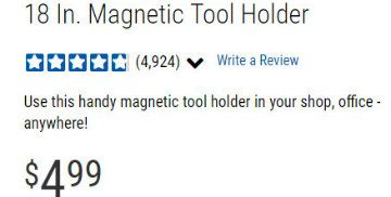 magnet tool bar price Harbor Freight